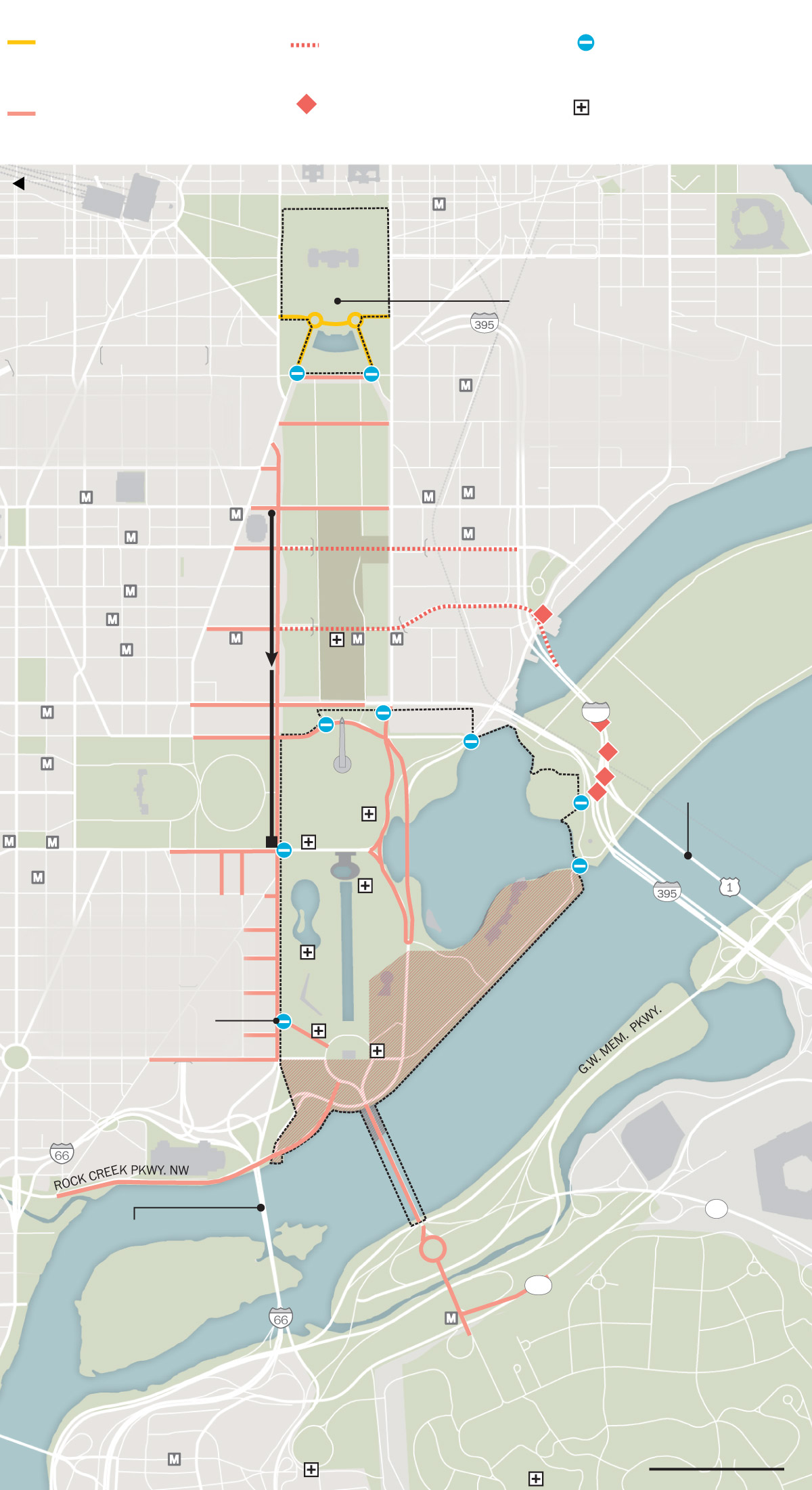 Street closures map: Fourth of July in Washington, D C